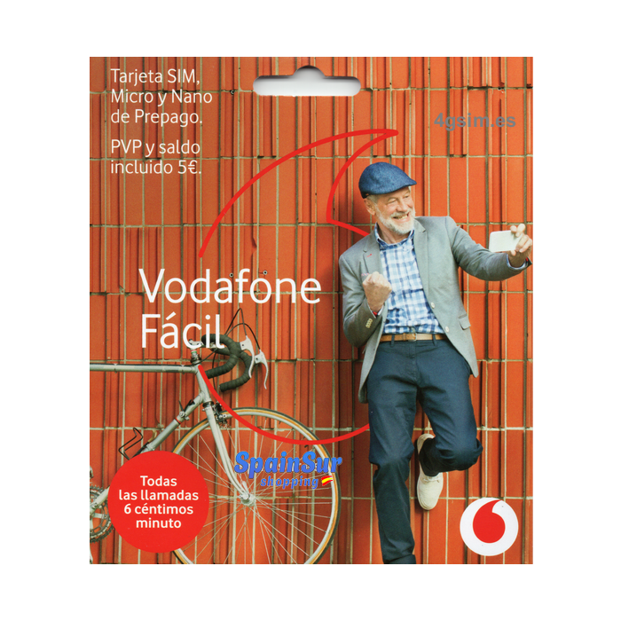 Vodafone Payg Top Up >> Vodafone Facil National Calls In Spain
