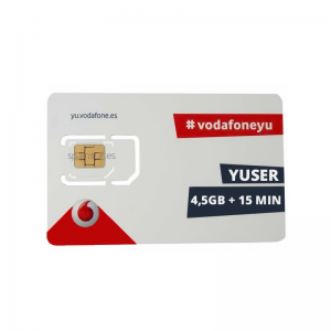 Vodafone Yuser 4 5GB for 4G internet and 15 min for calls
