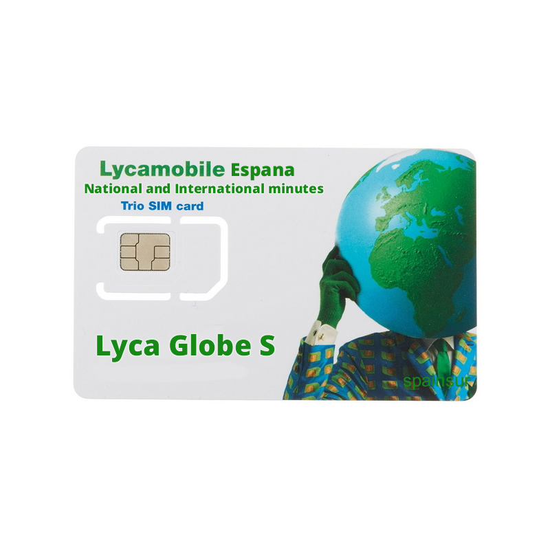 Lycamobile Lyca Globe S - Prepaid Sim Card national and