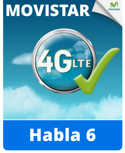 Movistar Habla 6 prepaid sim